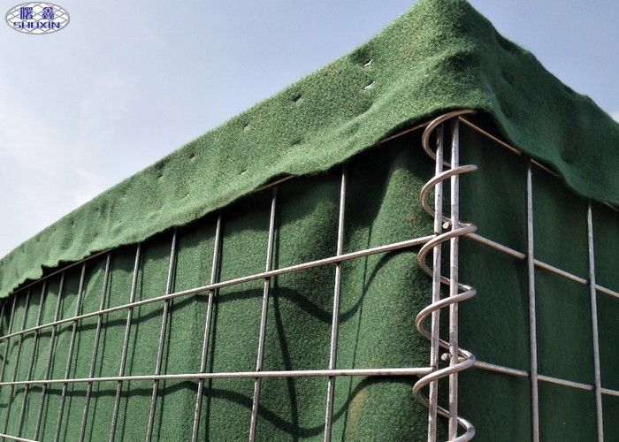 Temporary High Security Military Hesco Bastion Barrier , Mesh Size  80*80mm